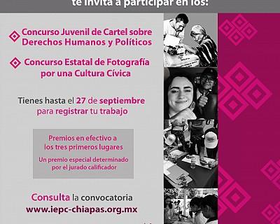 INVITA IEPC A JÓVENES PARA PARTICIPAR EN LOS CONCURSOS DE FOTOGRAFÍA Y CARTEL