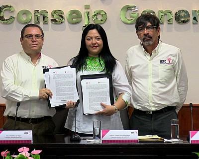 ICATECH E IEPC FIRMAN CONVENIO DE COLABORACIÓN EN MATERIA DE CAPACITACIÓN
