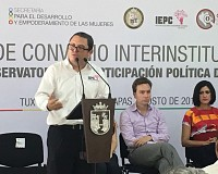 EL IEPC PARTICIPA EN FIRMA DE CONVENIO PARA INSTALACIÓN DEL OBSERVATORIO DE LA PARTICIPACIÓN POLÍTICA DE LAS MUJERES EN CHIAPAS.